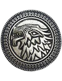 Game Of Thrones Antique Silber Wolf Brosche. House of Stark