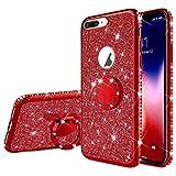 Surakey Compatible avec Coque iPhone 7 Plus/8 Plus Etui Silicone Paillette Brillante...
