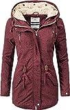 Urban Surface Damen 2in1 Winter-Longjacke mit Kapuze Rot Print L