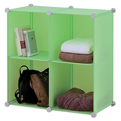 Mondex inx436 00 etag res cubes modulables avec 4 casiers de rangement plasti - Etageres cubes modulables ...