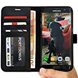 S7 EDGE Case, Abacus24-7® Samsung Galaxy S7 Edge Wallet Case Folio, Leather Flip