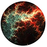 Gaming Mouse Pad Blue Nebula Natural Galaxy Background Office Desktop Rubber Non-Slip Round Mouse Mat 9.8 X 11.8