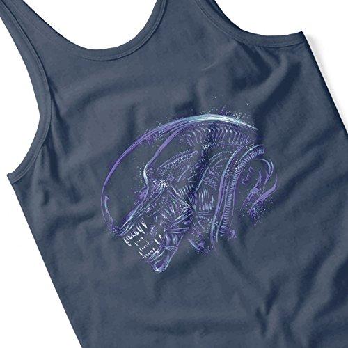 Aliens Space Nightmare Purple Men's Vest Navy Blue