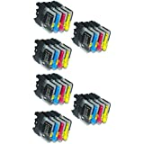 UCI BI lc985 [ 24 tinta = 6 x Set ] Compatible tinta cartuchos reemplazo For Brother DCP - J125, Brother DCP - J315W, Brother DCP - J515W, Brother MFC - J265W, Brother MFC - J410, Brother MFC - J415W, impresora, Brother lc985, lc985BK, lc985C, lc985M, lc985Y,
