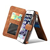 Galaxy S7Edge Schutzhülle, Belk abnehmbarer (rot) Leder–[Große Kapazität] Wallet Folio Flip Case mit Card Slot Slim Luxus PC Back Cover für Samsung Galaxy S7Edge