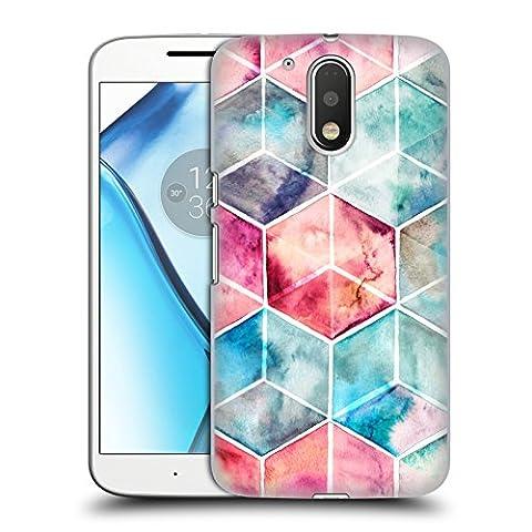 Offizielle Micklyn Le Feuvre Hexagon Kuben Muster 6 Ruckseite Hülle für Motorola Moto G4 / G4 Plus