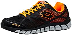 Lotto Mens X-Ride Black and Silver Metal Running Shoes - 9 UK/India (43 EU)