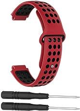 Garmin Forerunner 235 Case Bänder, Silikon Uhrenband, Silikon Bunte Ersatz Armband Gurt für Garmin Forerunner 220/230/620/630/735XT Smart Watch Geeignet für Alle Größen
