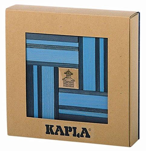 9000105 Holzplättchen 40er Box Buch, Blau