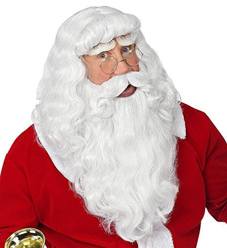 Panelize Deluxe Nikolaus Santa Claus Weihnachtsmann Perücke Bart Augenbrauen ()