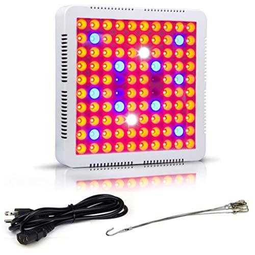 LED wachsen Lichter für Zimmerpflanzen, Pflanzenleuchten 300W / 600W rot-blaues weißes Panel wachsen Lampe mit UV-IR-Vollspektrum für Gartengewächshauspflanzen Digital Meter Tester