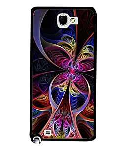 Fuson Designer Back Case Cover for Samsung Galaxy Note N7000 :: Samsung Galaxy Note I9220 :: Samsung Galaxy Note 1 :: Samsung Galaxy Note Gt-N7000 (lines flowers design designer artwork)