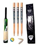 Sunshine Small Boys Cricket Set, Wooden Cricket Kit with Carry Bag
