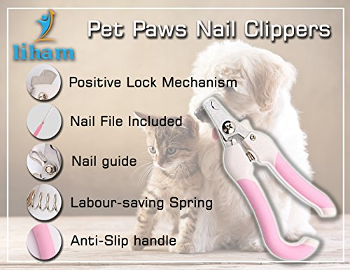 Pet Dog Cat Nail Claw Clippers, Suitable For Small, Medium and large Size Dogs, Cats, Rabbits, guinea pig, birds… 3
