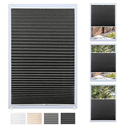 Auralum® 2 anni di garanzia pieghe tende romane rollo shades 90x130cm su misura raffrollo blackout opache tende plissettate montaggio sul telaio della finestra (caffè)