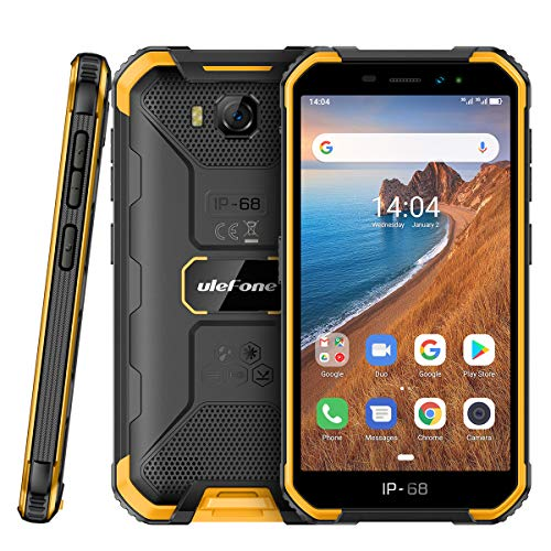 Outdoor Handy Günstig Ulefone Armor X6 (2020) Robustes Wasserdicht Smartphone ohne Vertrag 5,0 Zoll HD, 2GB RAM + 16GB ROM, 4000mAh, Quad-core IP68 Android 9.0, Stoßfest Staubdicht Face ID, GPS
