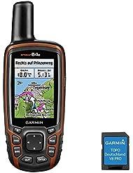 Garmin GPSMAP 64s + Topo Germany Pro V8Outdoor Navigation Device Black/Red, Uni