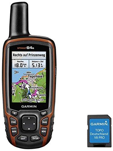 Garmin GPSMap 64s + TOPO Deutschland V8 Pro Outdoor-navigationsgerät, Schwarz/Rot, One Size