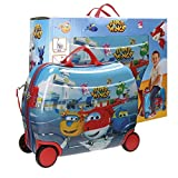 Super Wings Airport Equipaje Infantil, 50 cm, 34 Litros, Multicolor