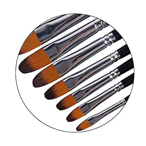 Best for Professional-9 Brushes Set of Round Brushes, Drawing & Painting Brush, Nylon Bristles, for Oil Painting, Gouache, Watercolor, Acrylics, and Oil & Face Painting .
