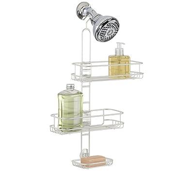 mdesign duschablage zum hngen praktisches duschregal ohne bohren zu montieren duschkrbe zum hngen aus edelstahl fr smtliches duschzubehr - Duschzubehor Zum Hangen