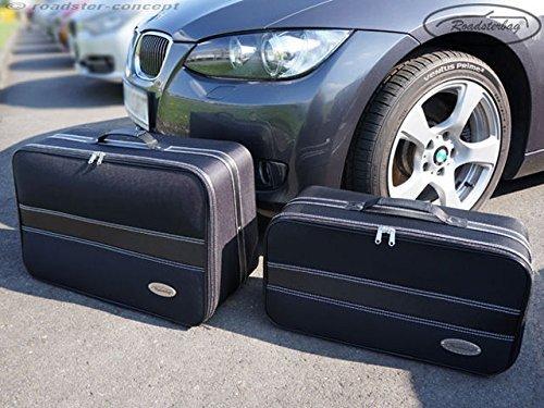 Preisvergleich Produktbild CKS Cabrio Cabriolet Roadster Reisekoffer Gepäck Tasche Set schwarz 15