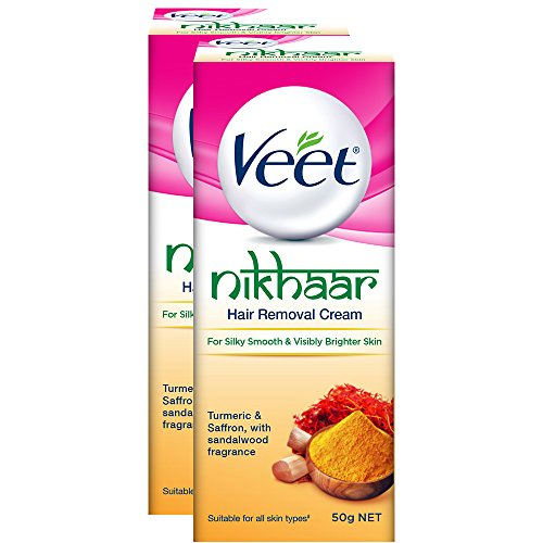 [Sponsored]Veet Nikhaar Hair Removal Cream For All Skin Types - 50 G (Pack Of 2)