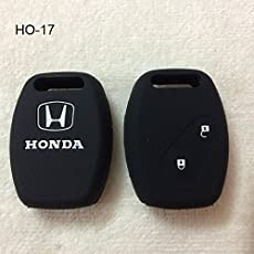 CARTECY Silicone Remote Key Cover for Honda City/Civic/Jazz/Mobileo/Amaze/CRV/Brio