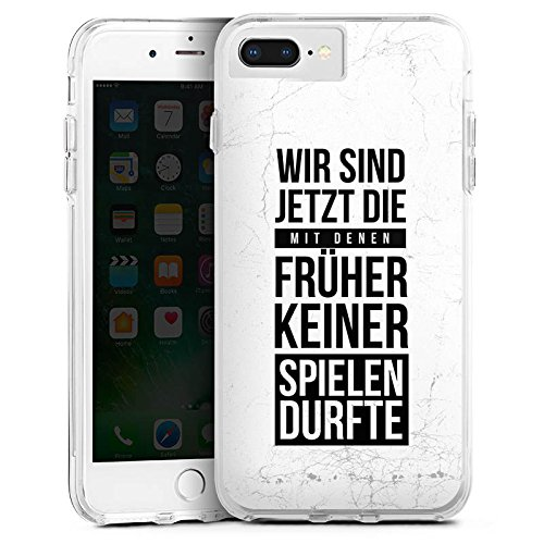 DeinDesign Apple iPhone 8 Plus Bumper Hülle Transparent Bumper Case Schutzhülle Humor Fun Sayings