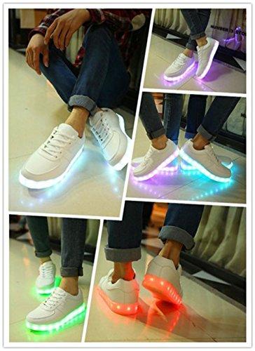 [Présents:petite serviette]JUNGLEST® 7 Couleur Mode Unisexe Homme Femme USB Charge LED Lumière Lumineux Clignotants Chaussures de ma c27