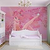Disney Fairies Tinker Bell - Wallsticker Warehouse - Fototapete - Tapete - Fotomural - Mural Wandbild - (3233WM) - XXL - 312cm x 219cm - VLIES (EasyInstall) - 3 Pieces