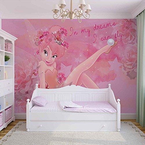 Disney Fairies Fée Clochette Papier Peint Photo Décoration Murale Papier Peint Photo Image Papier peint (3233ws), Papier (intissé : non ), XXL - 368cm x 254cm