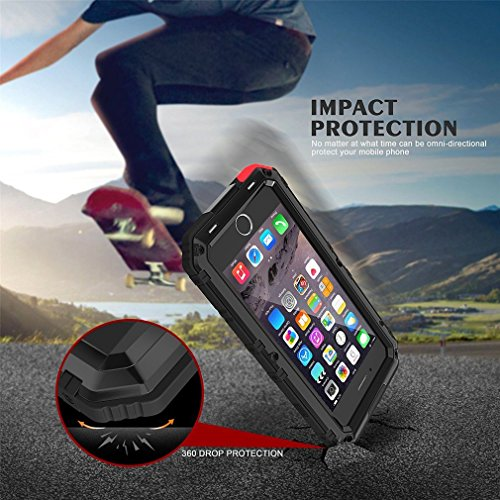 iPhone 6Plus case, Beeasy Heavy Duty metal Full Body pelle, con pellicola protettiva, di grado militare impermeabile Dropproof antiurto robusto impatto Strong di protezione per sport all aria aperta Black