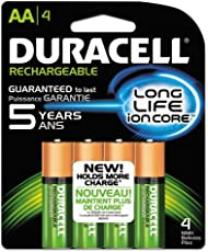 Duracell - Rechargeable NiMH Batteries with Duralock Power Preserve Technology, AA, 4/Pack NLAA4BCD (DMi PK