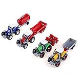 FTVOGUE Simulation Bauernhof Traktor LKW 4 Teile / Satz 1: 64 Skala Hohe Simulation Landwirtschaftliche Landwirt Fahrzeug Modell Mini Kinder Auto Spielzeug