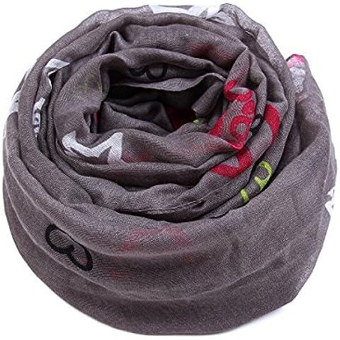Multi-colore neckerchief scialle femmina TAGLIA GRANDE AMORE caldo inverno