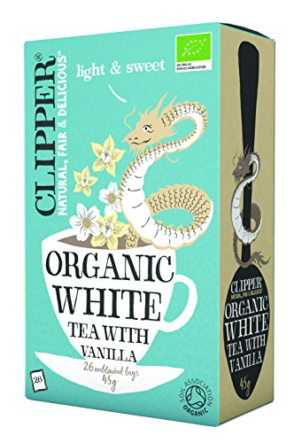 Clipper Organic White Tea with Vanilla 26 Tea Bags (Pack of 6)