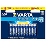 Varta High Energy Batterie AAA Micro Alkaline Batterien LR03 - 10er Pack
