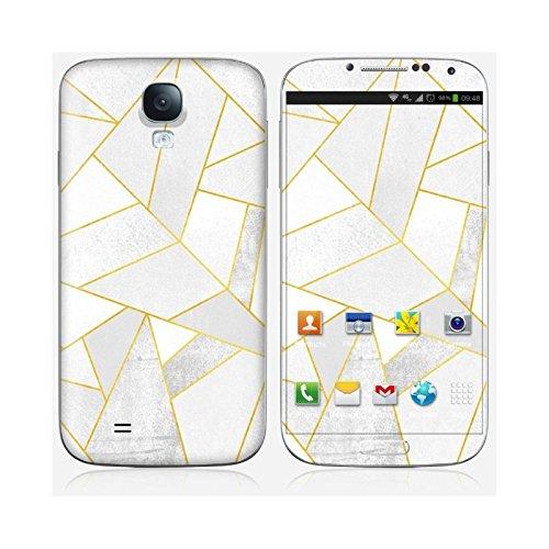 Coque iPhone 5 et 5S de chez Skinkin - Design original : White stone with gold lines par Elisabeth Fredriksson Skin Galaxy S4