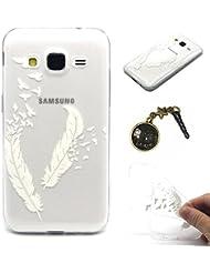 TPU Silicona Carcasa Painted PC Case Cover Carcasa Funda De Piel Caso de Shell cubierta para smartphone Samsung Galaxy Grand Prime (G360de SM, sm-g360h, sm-g361F (4,5pulgadas) + Polvo Conector