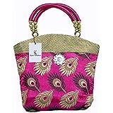Kuber Industries Women's Mini Handbag(Pink,PAR006711)