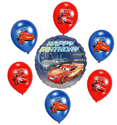 Disney Cars Kinder Geburtstag Luftballons Lightning Dekoration Set Happy Birthday Deko-Luftballon Folienballon