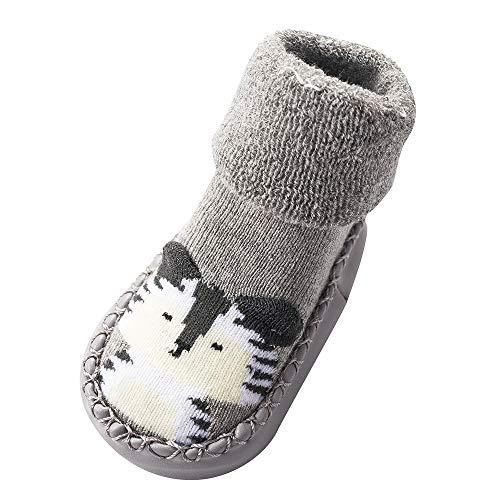 Amphia - Babykleinkindstrümpfe - Fußbodensocken dicker rutschfest - Cartoon-SockenNeugeborenes Baby-Jungen-Mädchen-Karikatur-nette warme Fußbodensocken Anti-Rutsch-Baby-Schritt-Socken -