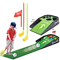 BARGAINS-GALORE MINI GOLF PRACTICE SET KIDS FUN TOY WITH SOUNDS CLUB BALL INDOOR PUTTING GAME