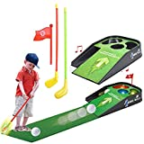 BARGAINS-GALORE MINI GOLF PRACTICE SET KIDS FUN TOY WITH SOUNDS CLUB BALL INDOOR