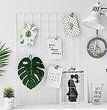 JUNGEN Pannello Griglia per Foto Bianco Parete Decorativa Creativo Multifunzione Pannello 65x45 cm