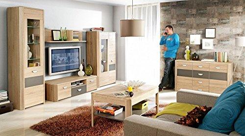 eckkleiderschrank eckschrank yoop sonoma eiche anthrazit m. Black Bedroom Furniture Sets. Home Design Ideas
