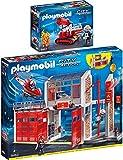 PLAYMOBIL 9462-67 Feuerwehr Set 6 - 2er Set 9462 + 9467
