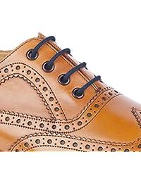 55Sport–CALIDAD redondo cordones para zapatos (algodón encerado, color gris, talla 150 cm