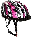 Sport Direct SH515 55-58cm Junior/ Damen Helm - Mehrfarbig (Rosa/Graphit/Weiß), M: 56-58 cm